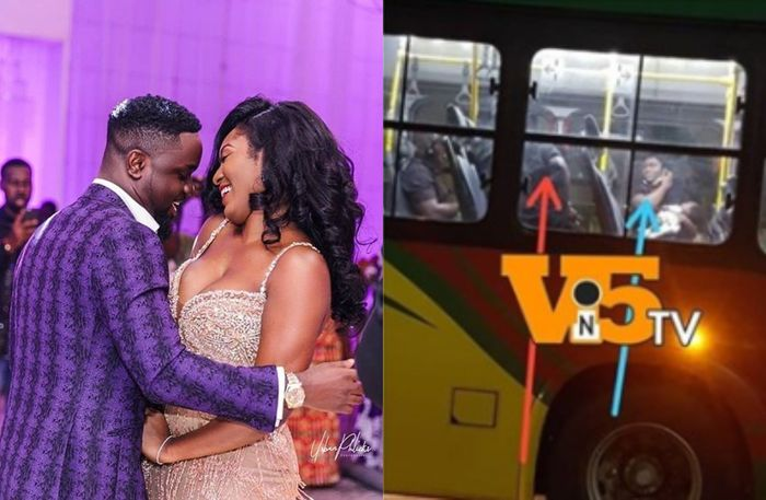 Sarkodie And Wife, Tracy Have Finally Arrived In Ghana With A Newborn Baby