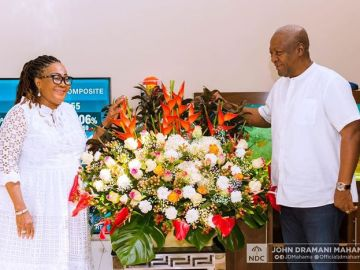 PHOTOS: Former President John Mahama And Wife, Lordina Mahama, Celebrate 28 Years Of Marriage