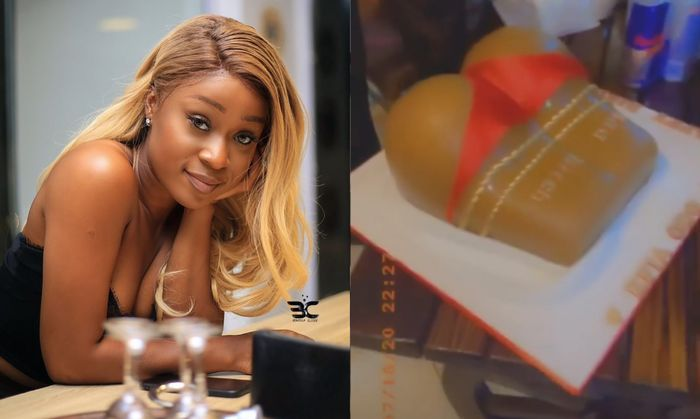 VIDEO: Efia Odo Gets A Disappointing Butt-like Cake As Birthday Gift Whilst Nana Aba Anamoah And Hajia4Real Got Range Rovers On Their Birthdays