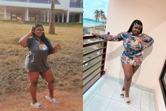 Maame Serwaa Could Be The Regina Daniels Of Ghana - Check Her Out As She Puts Her Tundra Thighs On Display