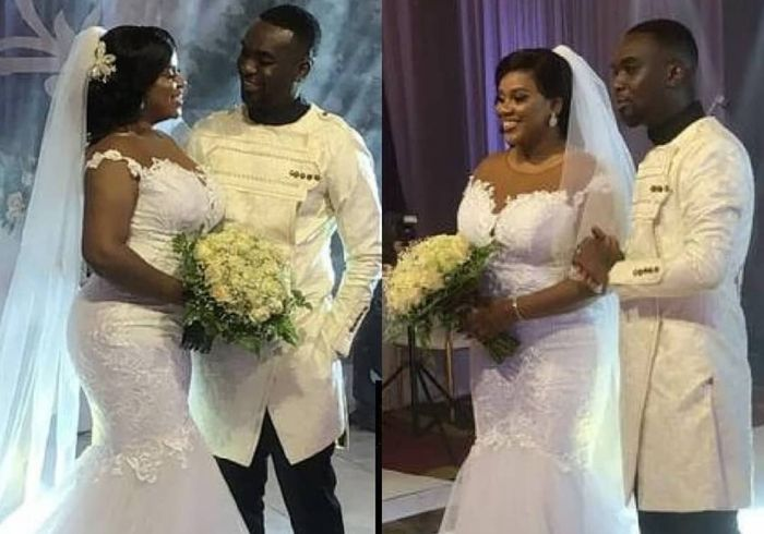 VIDEO: One Car, No Groomsmen, No Bridesmaid And Tight Security - This Is What Happened At Joe Mettle And Selasie's White Wedding