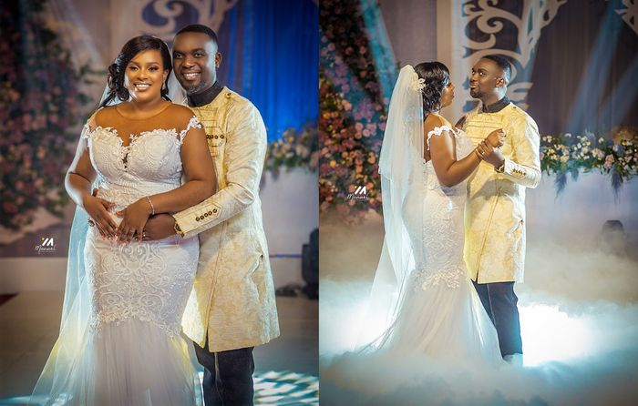 Official And Stunning Photos From Joe Mettle And Selasie Dzisa's White Wedding Released