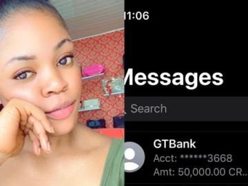 Man Gifts Lady N50,000 For Replying To His Messages On Whatsapp
