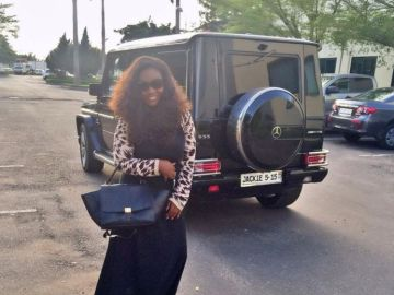 Video: Jackie Appiah Flaunts Her Posh Customized G-Wagon To Prove She Isn't Bothered With Rumors That She Is Pregnant For Liberian President