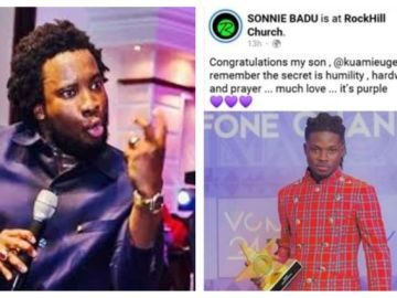Sonnie Badu Receives A Hot 'Diss' For Congratulating Kuami Eugene After He Won Artiste Of The Year Award