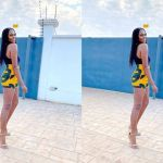 PHOTO: We Cannot Stop Admiring Yvonne Nelson's Long And Beautiful Legs In This Fine African Print Knickers