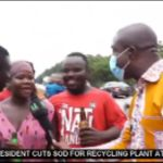 VIDEOS: Free Beer For Drunkards After A Truck Full Of Beer Had An Accident On The Accra-Tema Motorway