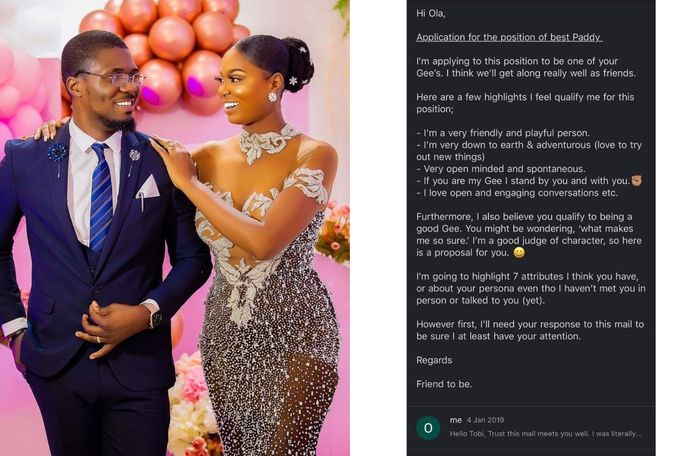 PHOTOS: Single Man Who Sent A 'Love Application' Letter To A Pretty Lady Through An Email Finally Weds Her