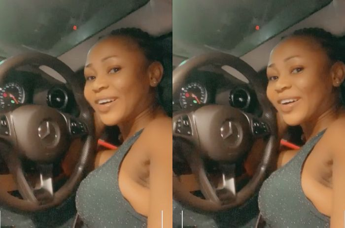 VIDEO: Akuapem Poloo Shames Enemies As She Flaunts The Interior Of A Borrowed Mercedes Benz