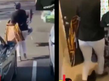 VIDEO: Ghanaian Woman Living Abroad Throws Her Husband's Belongings Out For Not Paying House Rent