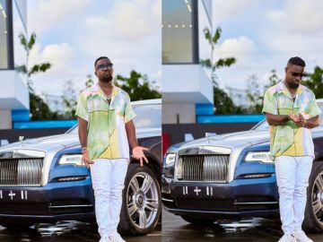 PHOTOS: It's Either Sarkodie Has Bought A Rolls Royce Or He Borrowed It For His Usual Photoshoot