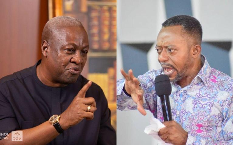 VIDEO: Reverend Owusu Bempah Claims He Saw Ex-president John Mahama Carrying 4 Coffins