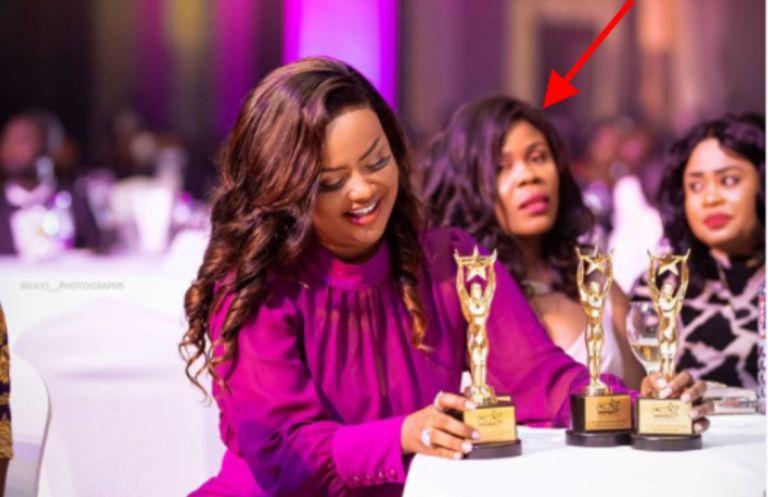 RTP Awards 2020: A Photo Of UTV's Yaa Konamah Jealously Staring At Nana Ama McBrown Gets People Talking