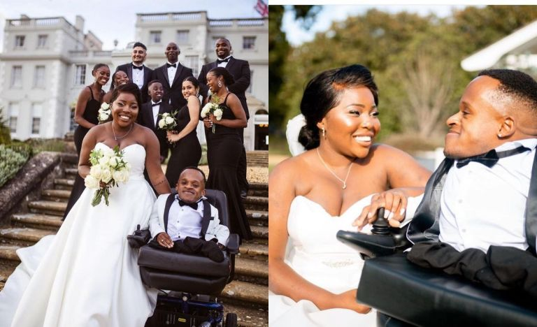 PHOTOS: Beautiful African Lady Gets Married To Her Midget Boyfriend With Hunchback In The UK