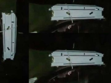 VIDEO: Young Ghanaian Man Reportedly Caught Carrying A White Coffin At Midnight In Kumasi