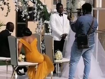 Here's A Video From Lexis Bill's Private White Wedding Ceremony