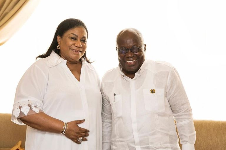 """First Lady, Rebecca Akufo-Addo, Commits """"Mother Serpent Of Corruption"""", President Akufo-Addo, Into God's Hands Ahead Of The 2020 Elections"""