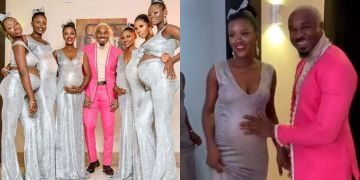 VIDEO: Nigerian Socialite, Pretty Mike, Attends Williams Uchemba's Wedding With His 6 Heavily Pregnant Girlfriends