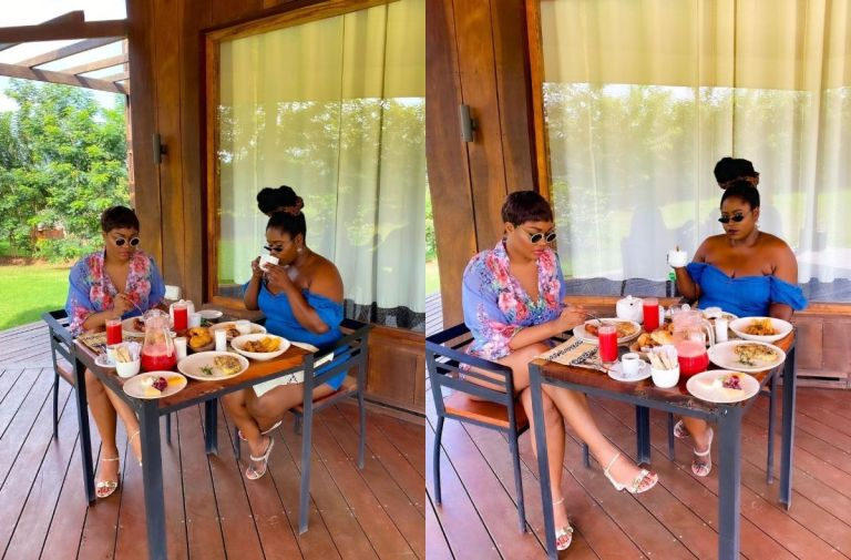Bestie Goals: Lydia Forson And Sandra Ankobiah Are On A Chillout At Safari Valley Resort - PHOTOS