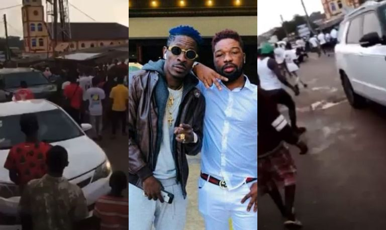 VIDEOS: Kumasi Krofrom Youth Messes Shatta Wale Up - He And His Crew Had To Run For Their Lives