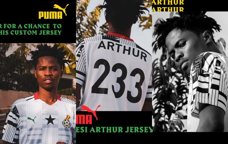 PHOTOS: Kwesi Arthur Has Partnered With Puma To Create His Own Ghana Football Jerseys