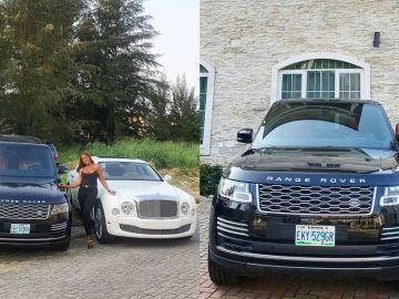 PHOTOS: Linda Ikeji Gifts Herself A Range Rover Autobiography Months After Buying 85 Pair Of Expensive Shoes