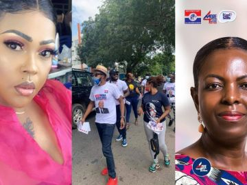 VIDEO: Mona Gucci Claims Prince David Osei, Kalybos And Others Were Paid Ghc5,000 After Campaigning For Ayawaso West MP-elect, Lydia Alhassan
