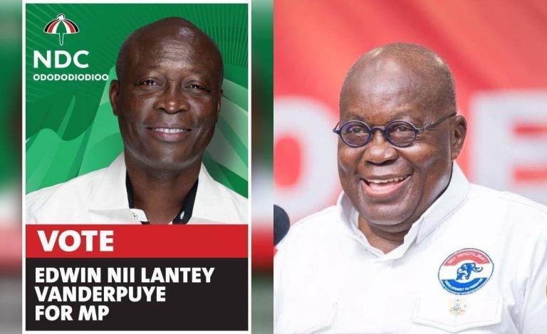 Watch The Awkward Moment President Akufo-Addo Endorsed NDC's Nii Lante Vanderpuye Instead Of NPP's Candidate