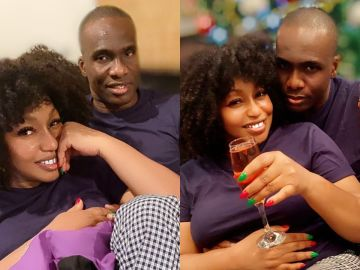 PHOTOS: 45-year-old Rita Dominic Flaunts Her New Man, Fidelis Anosike, On Instagram