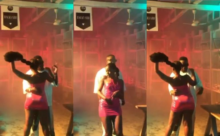 Check Out This Video Of Sarkodie Busily Grinding MzVee's Butts