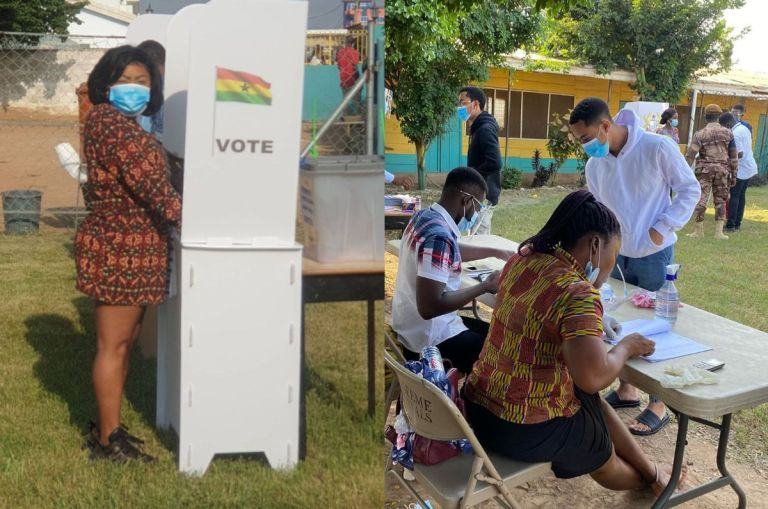 2020 Elections: Afia Schwar And Her Sons Have Cast Their Votes - PHOTOS