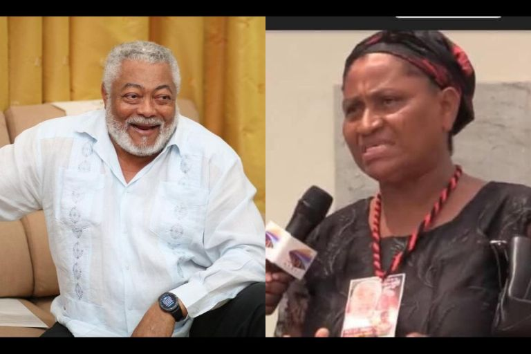 VIDEO: From Baby Mama To Secret Child Brouhaha - 52-year-old Woman Comes Out Bold That She's The First Child Of Jerry John Rawlings