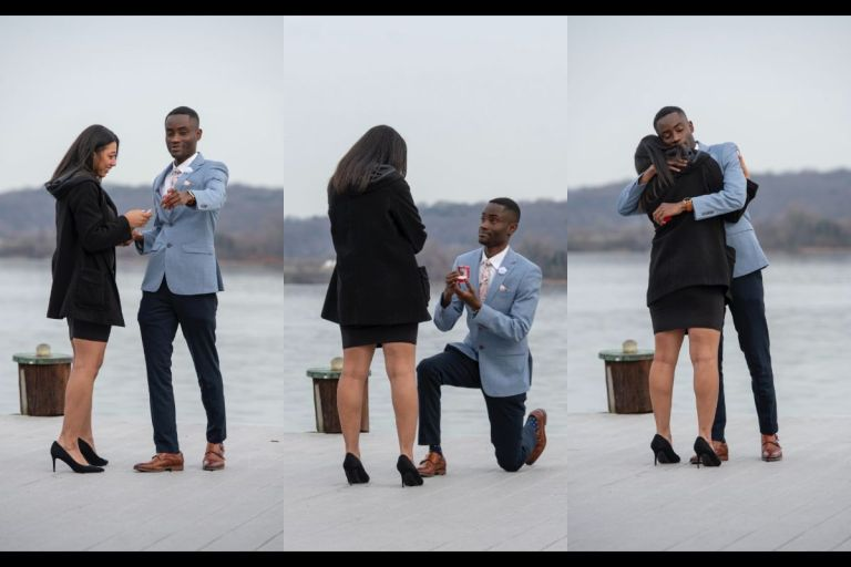 PHOTOS: Young Man Proposes To His Girlfriend After 7 Years Of Dating And She Said YES