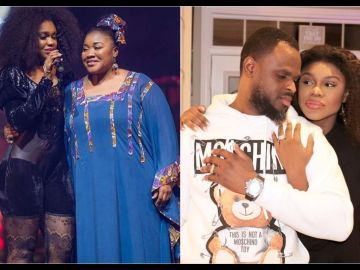 Becca's Husband, Tobi Sanni's Refusal To React To The Death Of His Mother-in-law, Julie Oti, Suggests He Still Holds Grudges Against Her
