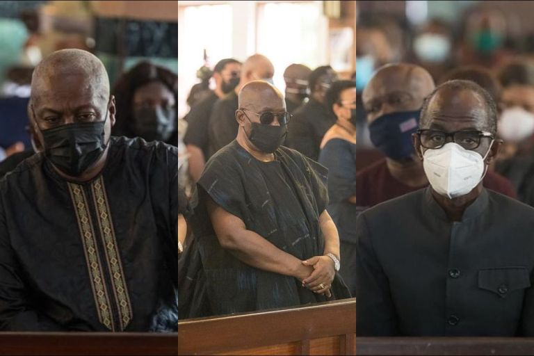 Check Out Photos From Catholic Requiem Mass Held For The Late President Jerry John Rawlings
