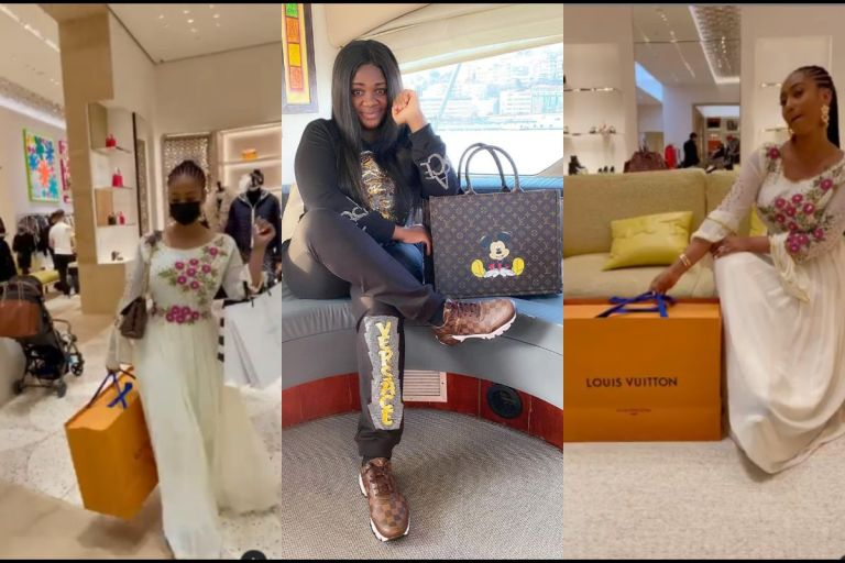 VIDEO: Hajia4Reall Goes Shopping For Original Louis Vuitton Bag 2 Days After Tracey Boakye Flaunted Her Fake LV Handbag