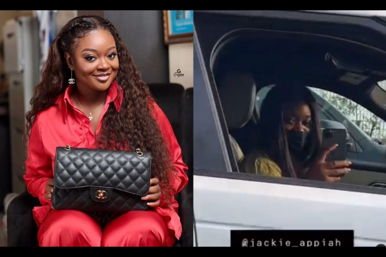 VIDEO: Jackie Appiah Cruises In Town With A 2020 Range Rover Verla