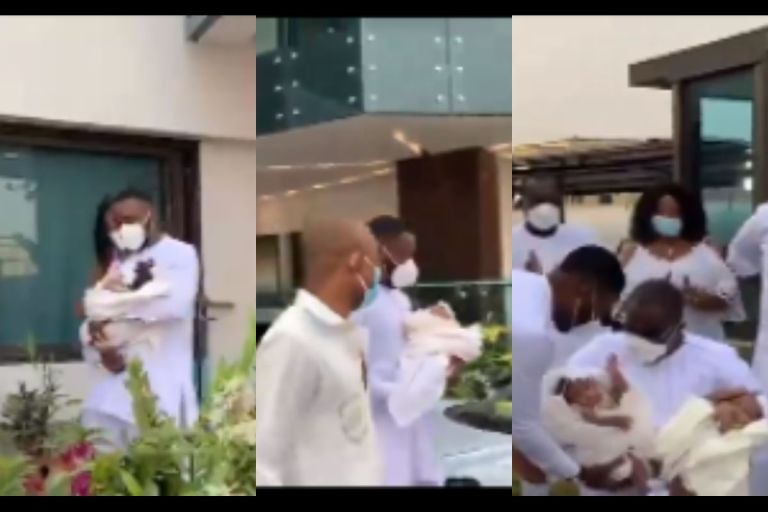 VIDEO: Kennedy Osei And His Wife, Tracy, Finally Show Off Their Adorable Twins