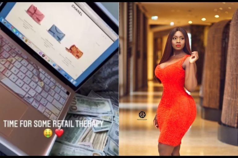 VIDEO: Drama Queen, Princess Shyngle, Spends A Whooping Ghc39,576 On A Single Chanel Handbag