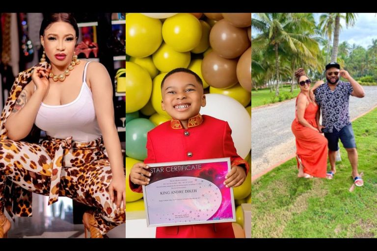 Tonto Dikeh Throws Shades At Her Ex-husband, Churchill Olakunle, On Their Son's 5th Birthday