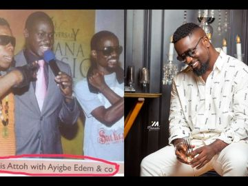"""Sarkodie - The Rapper Who Was Referred To As """"Co"""" In A Throwback Photo With Edem And Chris Attoh Is Now A Rock In The Music Industry"""