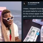 Medikal Runs For Cover And Hurriedly Deletes His Post Showing Off Bundles Of Dollar Bills After Someone Tagged The FBI Under His Post