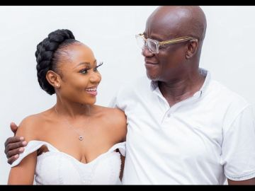 PHOTOS: Akuapem Poloo Poses With Her Lawyer And We Think Her Long Fake Eyelashes Could Pierce The Man's Eyes