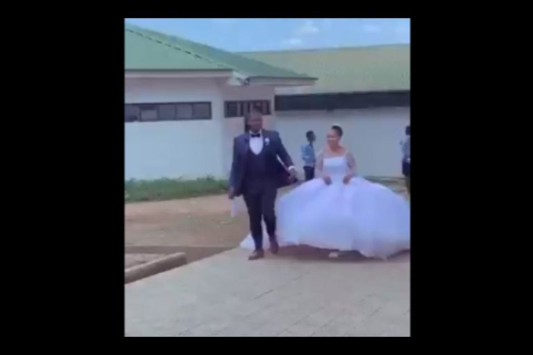 VIDEO: University Student Goes Viral After Storming The Examination Hall In Her Wedding Gown For Her Final Exams