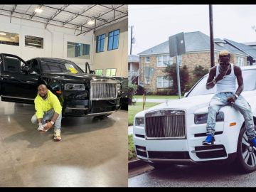 Shatta Wale Who's Reportedly Flaunting A Rented Rolls Royce Throws Shades At Davido For Walking Into A Car Dealership And Buying A 2021 Rolls Royce Cullinan