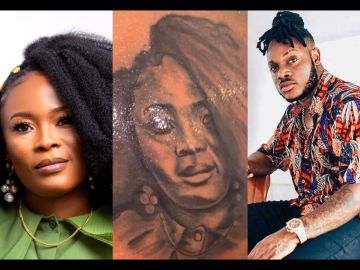 VIDEO: Keche Andrew Is Insanely In Love As He Tattoos His Wife's Face On His Back