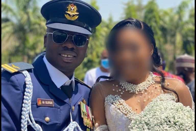 Throwback Video Of Late Flt Lt Olufade Happily Dancing With His Wife At Their Wedding Ceremony Pops Up