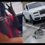 VIDEO: Shatta Wale Pulls Up In A Brand New Rolls Royce In The Streets Of United States