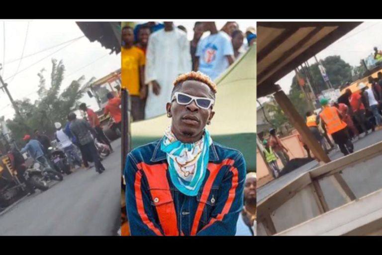 VIDEOS: Shatta Wale Allegedly Orders Nima Thugs To Beat Up Road Constructors For Blocking His Access To The Road