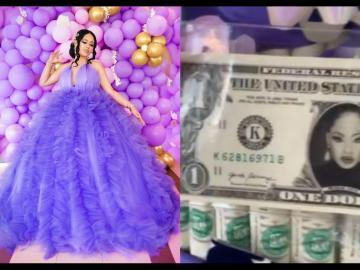 VIDEO: BBNaija's Nina Ivy Receives A Customized Dollar Bill As A Birthday Gift From Her Husband